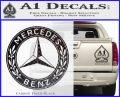 Mercedes Benz C2 Decal Sticker Carbon FIber Black Vinyl 120x97