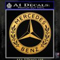Mercedes Benz C2 Decal Sticker Gold Vinyl 120x120