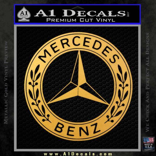 Mercedes Benz C2 Decal Sticker Gold Vinyl