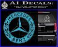 Mercedes Benz C2 Decal Sticker Light Blue Vinyl 120x97