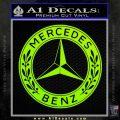 Mercedes Benz C2 Decal Sticker Lime Green Vinyl 120x120