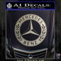 Mercedes Benz C2 Decal Sticker Metallic Silver Emblem 120x120