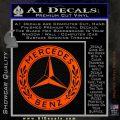 Mercedes Benz C2 Decal Sticker Orange Emblem 120x120