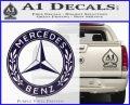 Mercedes Benz C2 Decal Sticker PurpleEmblem Logo 120x97