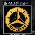 Mercedes Benz C3 Decal Sticker Gold Vinyl 120x120
