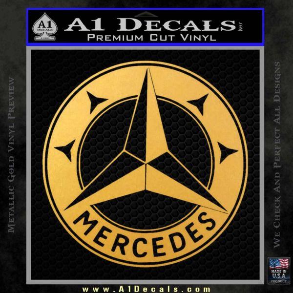 Mercedes Benz C3 Decal Sticker Gold Vinyl