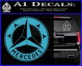 Mercedes Benz C3 Decal Sticker Light Blue Vinyl 120x97