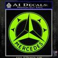 Mercedes Benz C3 Decal Sticker Lime Green Vinyl 120x120
