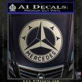 Mercedes Benz C3 Decal Sticker Metallic Silver Emblem 120x120