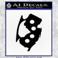 New Jersey Brass Knuckles Decal Sticker Black Vinyl 120x120
