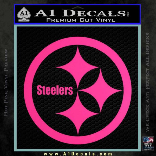 Pittsburgh steelers decal sticker pink hot vinyl 120x120