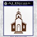 christian church decal BROWN Vinyl 120x120