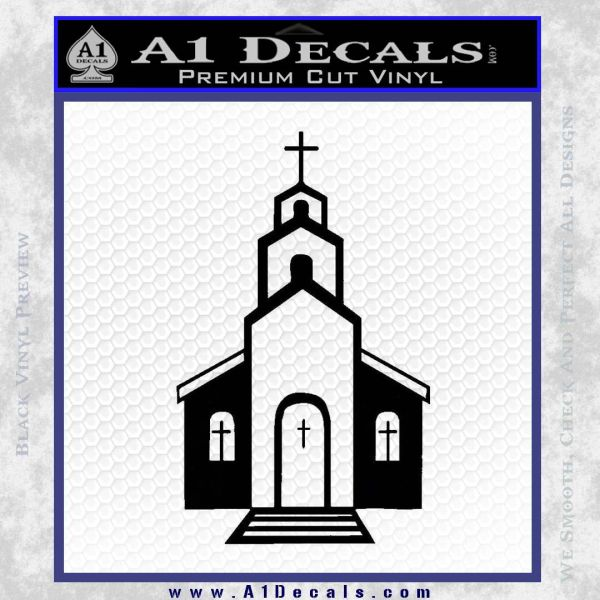 christian church decal Black Vinyl
