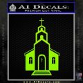 christian church decal Lime Green Vinyl 120x120
