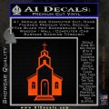 christian church decal Orange Emblem 120x120