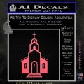 christian church decal Pink Emblem 120x120