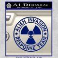 Alien Invasion Response Team Decal Sticker Blue Vinyl 120x120