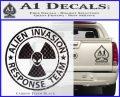 Alien Invasion Response Team Decal Sticker Carbon FIber Black Vinyl 120x97