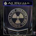 Alien Invasion Response Team Decal Sticker Carbon FIber Chrome Vinyl 120x120