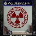 Alien Invasion Response Team Decal Sticker DRD Vinyl 120x120