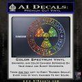Alien Invasion Response Team Decal Sticker Glitter Sparkle 120x120