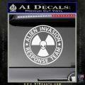 Alien Invasion Response Team Decal Sticker Gloss White Vinyl 120x120