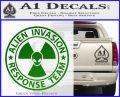 Alien Invasion Response Team Decal Sticker Green Vinyl Logo 120x97