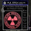 Alien Invasion Response Team Decal Sticker Pink Emblem 120x120