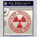 Alien Invasion Response Team Decal Sticker Red 120x120