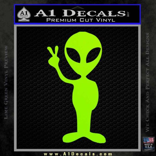 Alien Peace Sign Decal Sticker A1 Decals