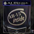 Ar 15 Inside Decal Sticker Carbon FIber Chrome Vinyl 120x120