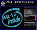 Ar 15 Inside Decal Sticker Light Blue Vinyl 120x97