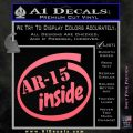 Ar 15 Inside Decal Sticker Pink Emblem 120x120