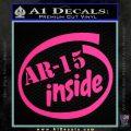 Ar 15 Inside Decal Sticker Pink Hot Vinyl 120x120