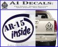Ar 15 Inside Decal Sticker PurpleEmblem Logo 120x97