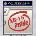 Ar 15 Inside Decal Sticker Red 120x120