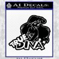 Ariel Little Mermaid True Diva Decal Sticker Black Vinyl 120x120