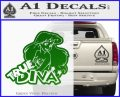 Ariel Little Mermaid True Diva Decal Sticker Green Vinyl Logo 120x97
