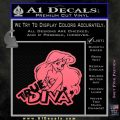 Ariel Little Mermaid True Diva Decal Sticker Pink Emblem 120x120