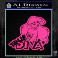Ariel Little Mermaid True Diva Decal Sticker Pink Hot Vinyl 120x120