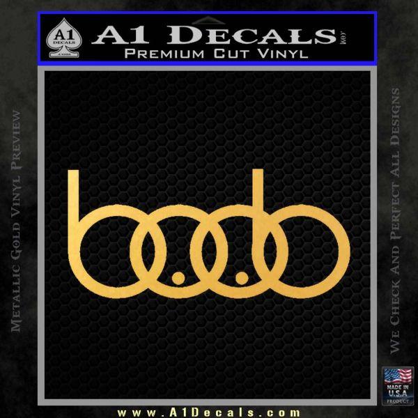 Audi Boobs Decal Sticker Gold Vinyl