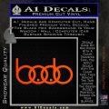 Audi Boobs Decal Sticker Orange Emblem 120x120