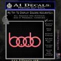 Audi Boobs Decal Sticker Pink Emblem 120x120