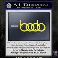 Audi Boobs Decal Sticker Yellow Laptop 120x120