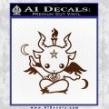 Baby Baphomet Decal Sticker BROWN Vinyl 120x120