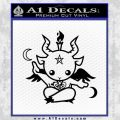 Baby Baphomet Decal Sticker Black Vinyl 120x120