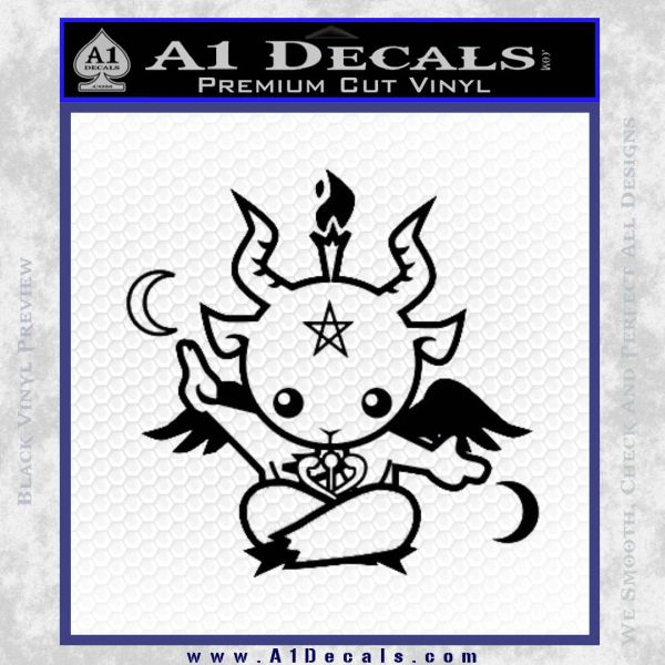 Baby Baphomet Decal Sticker Black Vinyl