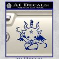 Baby Baphomet Decal Sticker Blue Vinyl 120x120