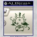 Baby Baphomet Decal Sticker Dark Green Vinyl 120x120