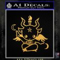 Baby Baphomet Decal Sticker Gold Vinyl 120x120